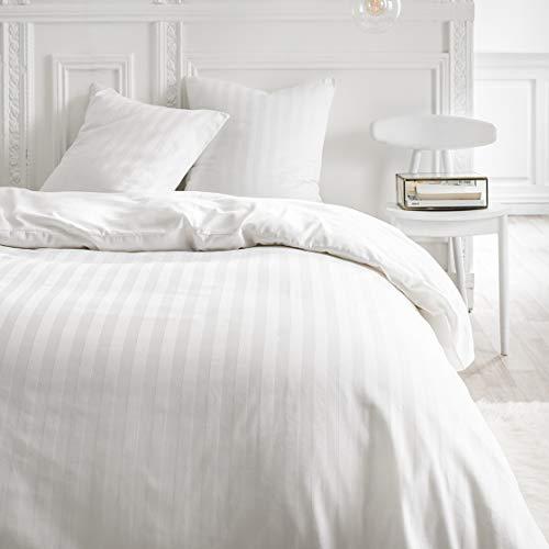 TODAY Housse de Couette et Taies d'oreiller, Blanc, 220 x 240 cm