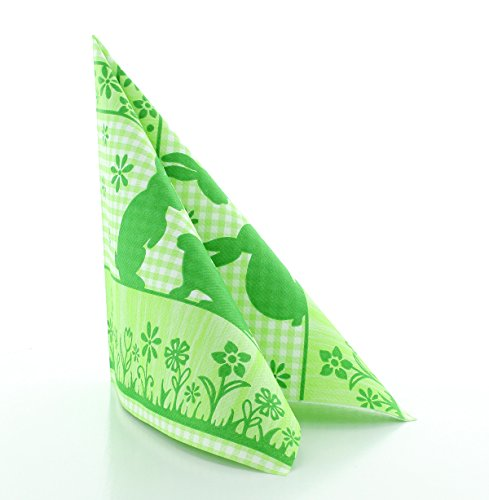 Vlag HORECA servet Joni | Airlaid servetten 40 x 40 cm | hoogwaardige wegwerpservetten voor feesten | extreem absorberend & stofachtig | 50 stuks | groen
