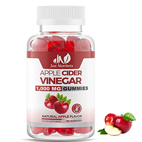 Apple Cider Vinegar 1,000 MG Gummies with Organic ACV from the Mother – Immune Support, Detox and Cleanse – Great Taste, Better than Pills, Tablets and Liquids – 60 Gummies