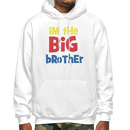Heyuanqinkeji Mens Katoen Pullover Comfortabele Hoodie Sweatshirt Zwarte Print Ik ben De Grote Broer Hooded Shirts met Pocket