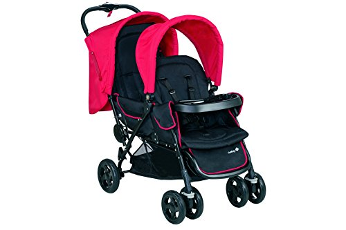 Safety 1st Duodeal Passeggino Gemellare Fratellare Compatto, Reclinabile, con Parapioggia e 2 Coprigambe, Full Black