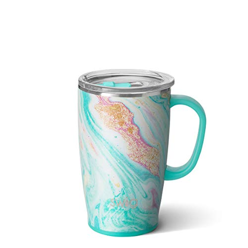 Swig Life 18oz Triple Insulated Travel Mug with Handle and Lid, Dishwasher Safe, Double Wall, and...