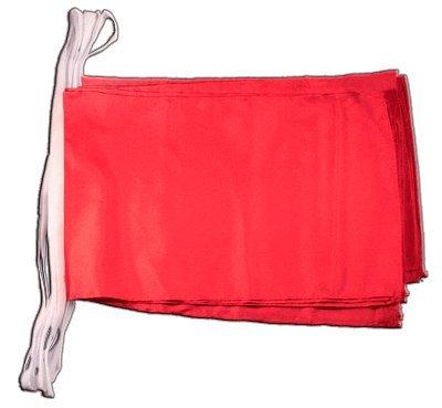 Digni Grande Guirlande 12 drapeaux Unicolore Rouge - 30 x 45 cm/8,9 sticker gratuit