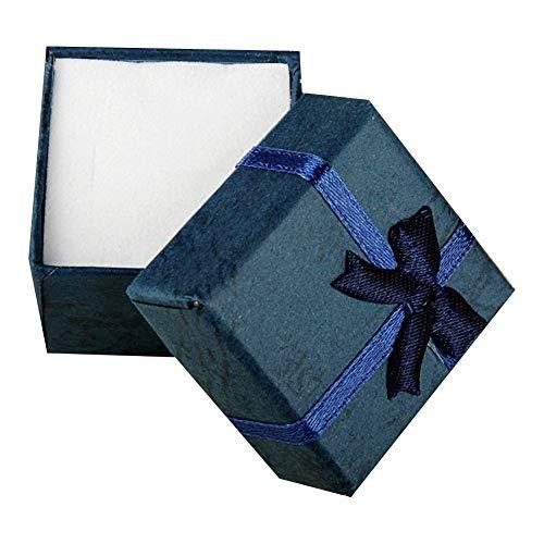 10 colores 4 * 4 * 3cm joyería anillo del pendiente del collar del reloj pequeño cartón azul presente caso caja de regalo gift (Color : 3)