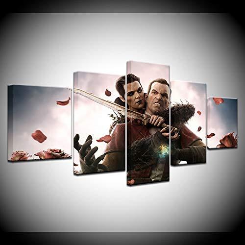 Animation Poster Leinwandmalerei Das Spiel Dishonored 3 5 Stück Tapeten Kunst Leinwanddruck Poster Modulare Kunst malerei für Wohnzimmer Wohnkultur