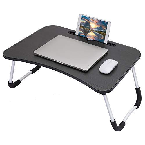 Gunolye Fr¨¹HST¹ck - Tavolino da letto per computer portatile, portatile, pieghevole, scrivania per computer portatile, tavolo multifunzione (60 x 40 cm)
