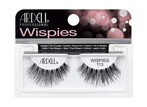 ARDELL Professional Wispies 113 - Wimpern aus Echthaar, schwarz, black (ohne Wimpernkleber) ultraleicht, flexibel und wiederverwendbar