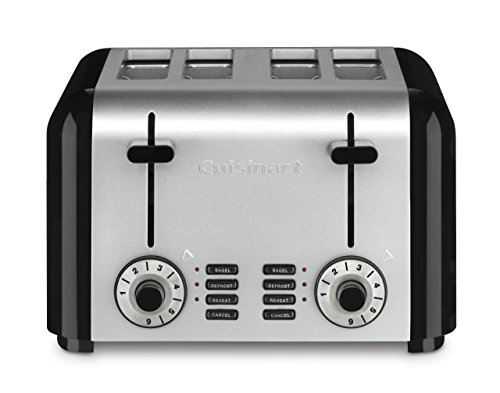 Cuisinart CPT-340 Compact Stainless 4-Slice Toaster, Brushed Stainless (Renewed)