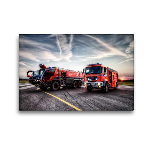Premium Textil-Leinwand 45 x 30 cm Quer-Format FLF u TLF (Flughafen Braunschweig) | Wandbild, HD-Bild auf Keilrahmen, Fertigbild auf hochwertigem Vlies, Leinwanddruck von Markus Will