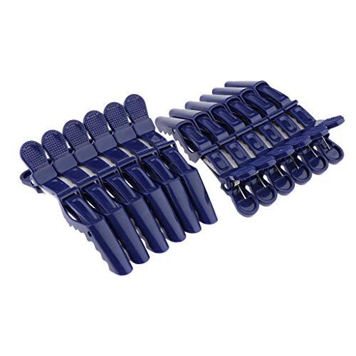 Freneci 12 Pcs Cheveux Styling Clips Pinces Vague Coiffure Perm Outil De Coiffure - Bleu