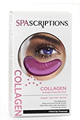 REVIVE & RESTORE: SpaScriptions gel eye pads are specially formulated with collagen to restore and revive the delicate skin under your eye so it feels soft and hydrated. REDUCES FINE LINES: These collagen under eye patches will help reduce the appear...