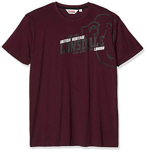 Lonsdale Walkley Shirt, Vintage Oxblood, M Uomo