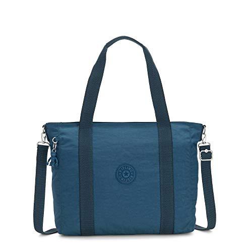 Kipling Women's Asseni Tote Bag, MYSTIC Blue, One Size