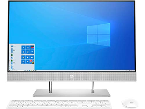 HP All-in-One 27-dp0012ns - Ordenador de 27' FHD (AMD Ryzen 3 4300U, 8 GB RAM, 512 GB SSD, gráficos AMD Radeon, Windows 10 Home 64) Plata Natural - Teclado QWERTY Español