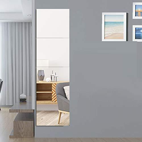 Espejo De Pared HD Costuras Sin Marco,Espejo Hojas Propio-adhesivo Hd Espejo Azulejos Espejo Para Dormitorio - Salón,Pasillo,Cualquier Habitación-C 30x120cm