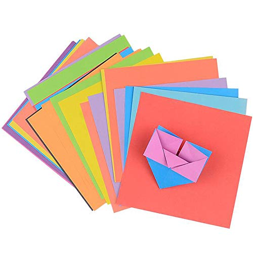 Xinlie Papel para Papiroflexia Papel de Origami Set Artesanal Corte de Papel Teñido Juego de Papel Surtido Papel de Doble Cara para Proyectos de Artesanía y Manualidades,8 Colores(120 Hojas)
