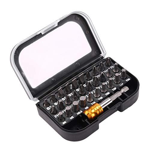 Gesh Juego de puntas de destornillador magnético 31 en 1 para herramientas de mano de electricista de alta calidad de 25 mm.