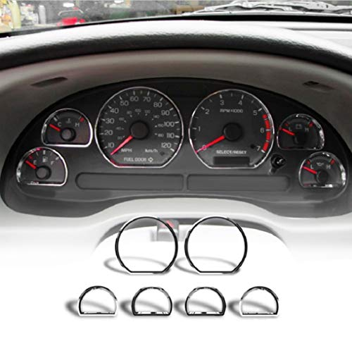 Chrome Speedometer Insturment Cluster Dashboard Gauges Rings Bezel Trim for 94-04 Ford Mustang