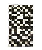 Zerimar Alfombra Patchwork Piel de Vaca | Medidas: 120x60 cm | Alfombra Salón | Alfombra Decoracion | Alfombra Dormitorio |...