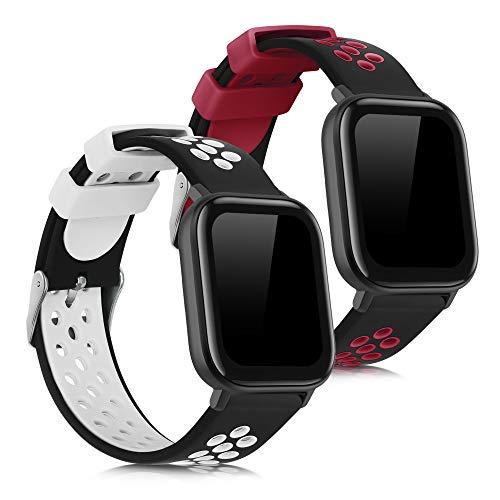 kwmobile Armband kompatibel mit Xiaomi Huami Amazfit GTS/GTS 2-2X Silikon Fitnesstracker Sportarmband