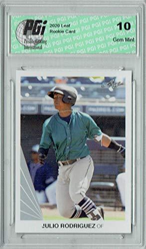 Julio Rodriguez 2020 Leaf #6 90 Leaf SP Rookie Card PGI 10