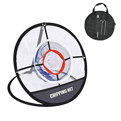 BOBLOV Golf Filet Pop Up, Pliant Portable Pare-Ballons Golf Cible Filet Pour Entraînement Balle D'Entraînement Intérieur Extérieur