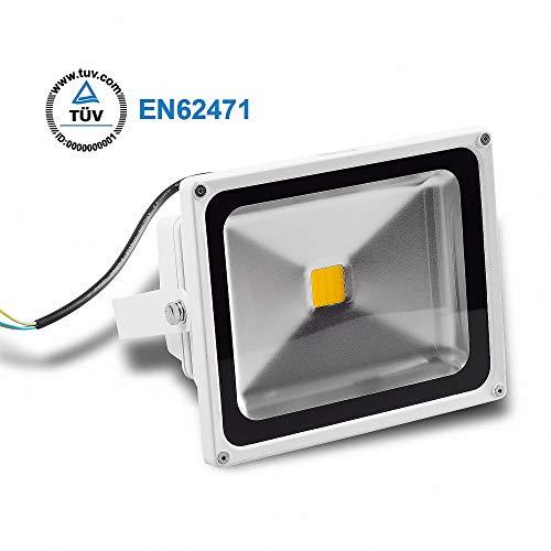 Projecteur à LED 30W Blanc Chaud 2800LM IP65 TUV boîtier blanc