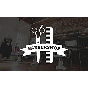 Barber Shop Window Sticker Hair Salon Hairdressers Vinyl Decal Scissors Comb Design:Anders-als-andere
