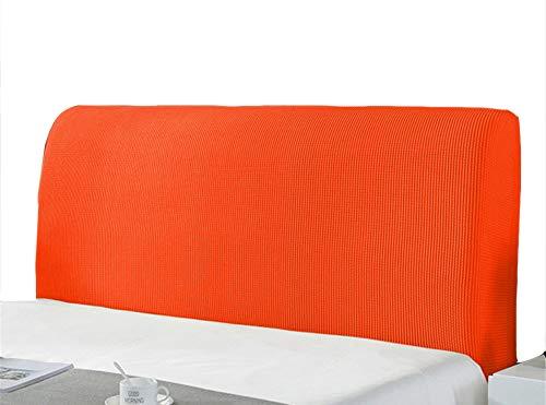SYLC Copertura Testiera Letto, Copertura per Testiera per Letto Fodera Elastica Protezione, Protezione Elastica A Tinta Unita (180-200cm,Arancia)