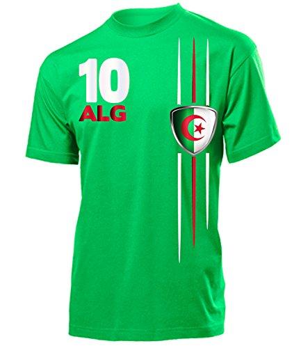 Algerien 4301 Fanshirt Fan Shirt Tshirt Fanartikel Artikel Fussball Männer Herren T-Shirts Grün S