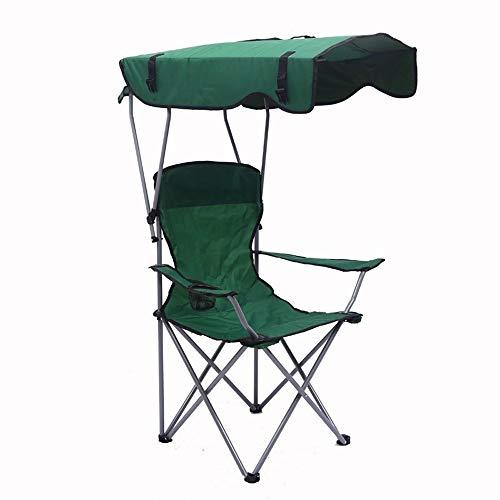 QXinjinXZP Tienda Impermeable Mochila Acampar al Aire Libre Ligero Dosel Silla de Pesca portátil Plegable sombrilla de Playa sillones Alza Plegable Taza reposapiés (Color : Green)