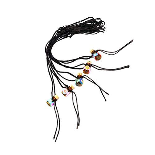 EXCEART Parfüm Medaillon Halskette Ätherisches Öl Anhänger Halskette Aroma Diffusor Charme Halskette Schmuck Geschenk für Frauen Männer 0. 5ML Zufällig Stil