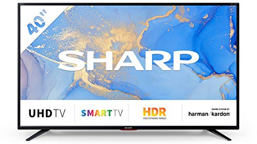 SHARP 40BJ6E 102 cm (40 Zoll) 4K Ultra HD Smart LED TV, HDR, Harman/Kardon Soundsystem, Triple Tuner