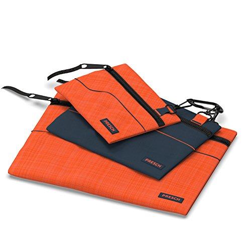 Presch Werkzeugtasche Leer 3er Set -Kleine Mehrzweck Etuis, Beutel mit Karabiner und Reißverschluss für Kleinteile wie Nagel, Schrauben und Muttern