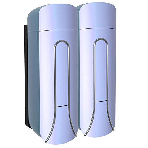 WSLWJH zeepdispenser voor de badkamer, 350 ml, enkele / dubbele zeepdispenser voor aan de muur, douchebad shampoo, dispenser voor vloeibare zeep, hotel Home Gel wasmiddel 55