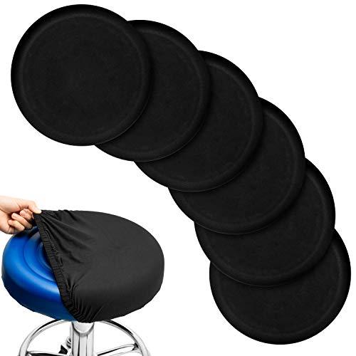Leopard Skin Print Bar Stool Slipcovers Set of 2 Anti-Slip Padded Washable Elastic Round Chair Cushion Velvet Seat Cover 12 Inch