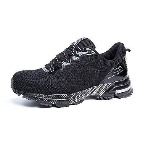 Zapatos de Seguridad para Hombre Zapatillas Deportivas de Mujer Puntera de Acero Calzado de Industrial Trabajo Construcción Botas Tácticas Trekking G Negro EU39