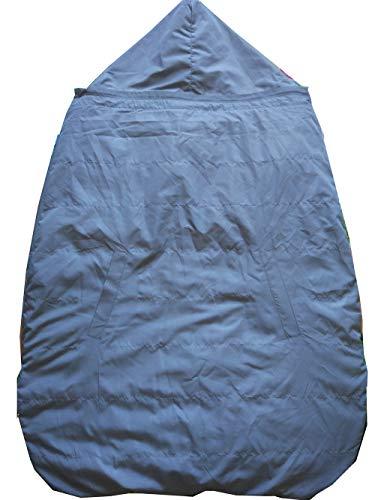 Mini miliya Baby Wear : écharpe imperméable et housse de transport avec poches pour garder les mains au chaud Gris clair