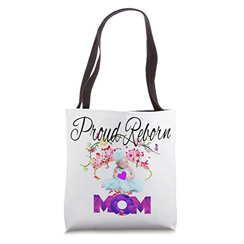 Proud Reborn Mom Baby Doll Collectors Design Box Opening Tote Bag