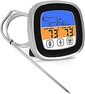 gracosy Köttermometer digital omedelbar läsa mat matlagning termometer multifunktionell BBQ termometer klocka timer med ro...
