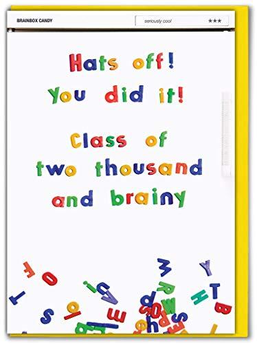 Grappig Humorous 'Hoeden af Je deed het!' Gefeliciteerd/Exam/Graduation Greetings Card