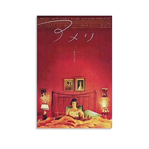 HUAIREN Amelie Vintage Movie Posters Print Japanese Style Decorative Canvas Prints Wall Art Posters for Room Aesthetic Housewarming Gift Decor 08x12inch(20x30cm)