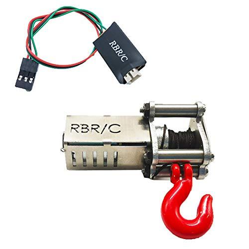 Cuasting Cabrestante eléctrico automático + cable de control 4CH para 1/16 WPL B14 B24 B36 C34 C44 MN90 Q60 Q65 RC Accesorios de coche Juguetes