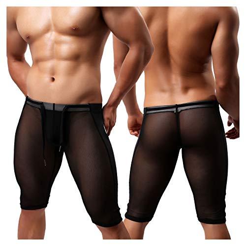 Arjen Kroos Herren Sport Hose f¨¹r Gewichtsverlust Abnehmen Hot Thermo Sauna Sweat Caprihose Fitness Workout Body Shaper Sportlich Yoga Hose