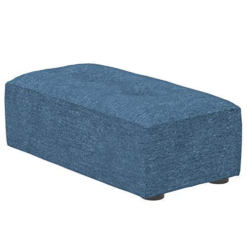 Marca Amazon -Alkove Elvas - Reposapiés bajo para sofá modular, 48 x 93cm, azul marino