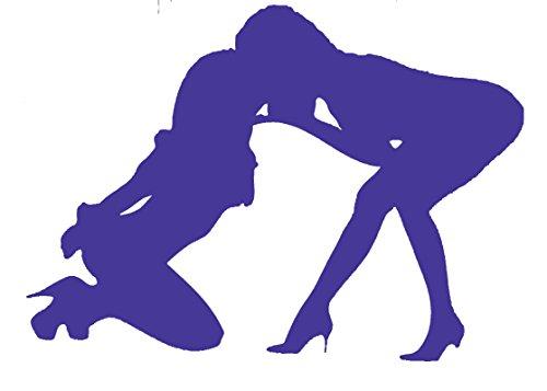 Kissing Girls Lesbians Women Vinyl Decal Sticker 75016 (Purple, 5.5')