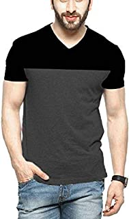 STYLENSE Men's Half Sleeve V-Neck Cotton T-Shirt - Multicolor