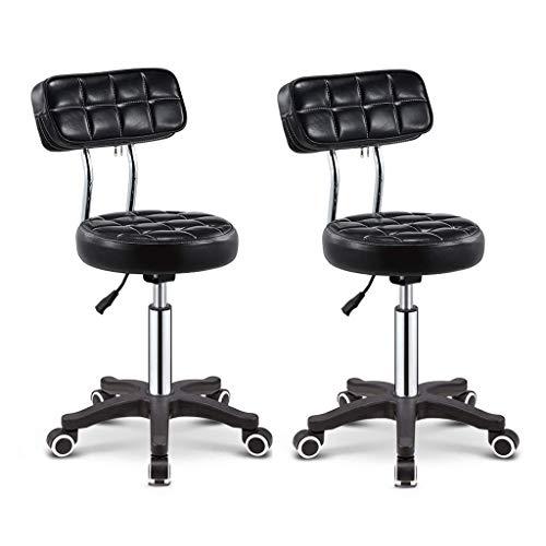 N/Z Tägliche Ausrüstung Stuhl Küche Esszimmer Nituremetall mit gepolstertem Stoff Sitz und Rückenlehne Einfaches Design Modern Gold Beine Barhocker Schwarz 65Cm
