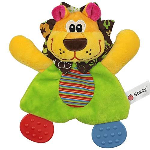JIE Silicona Gutta Percha Sonajero Muñeca Juguete de Mano Infantil Felpa Colgante Confort Juguete Multicolor Chica