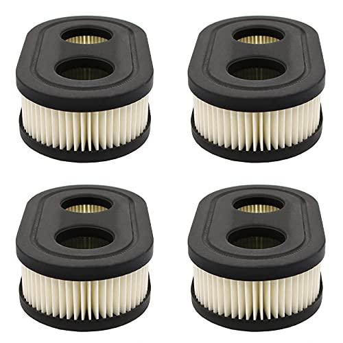 4 Piezas Filtro de Aire para Cortacésped, Filtro de Aire del Motor, Filtro para Cortacésped, Adecuado para Reemplazar Partes Dañadas de la Cortadora de Césped(Negro)